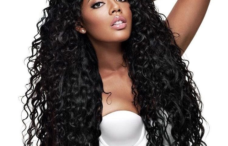 Curly hair weaves