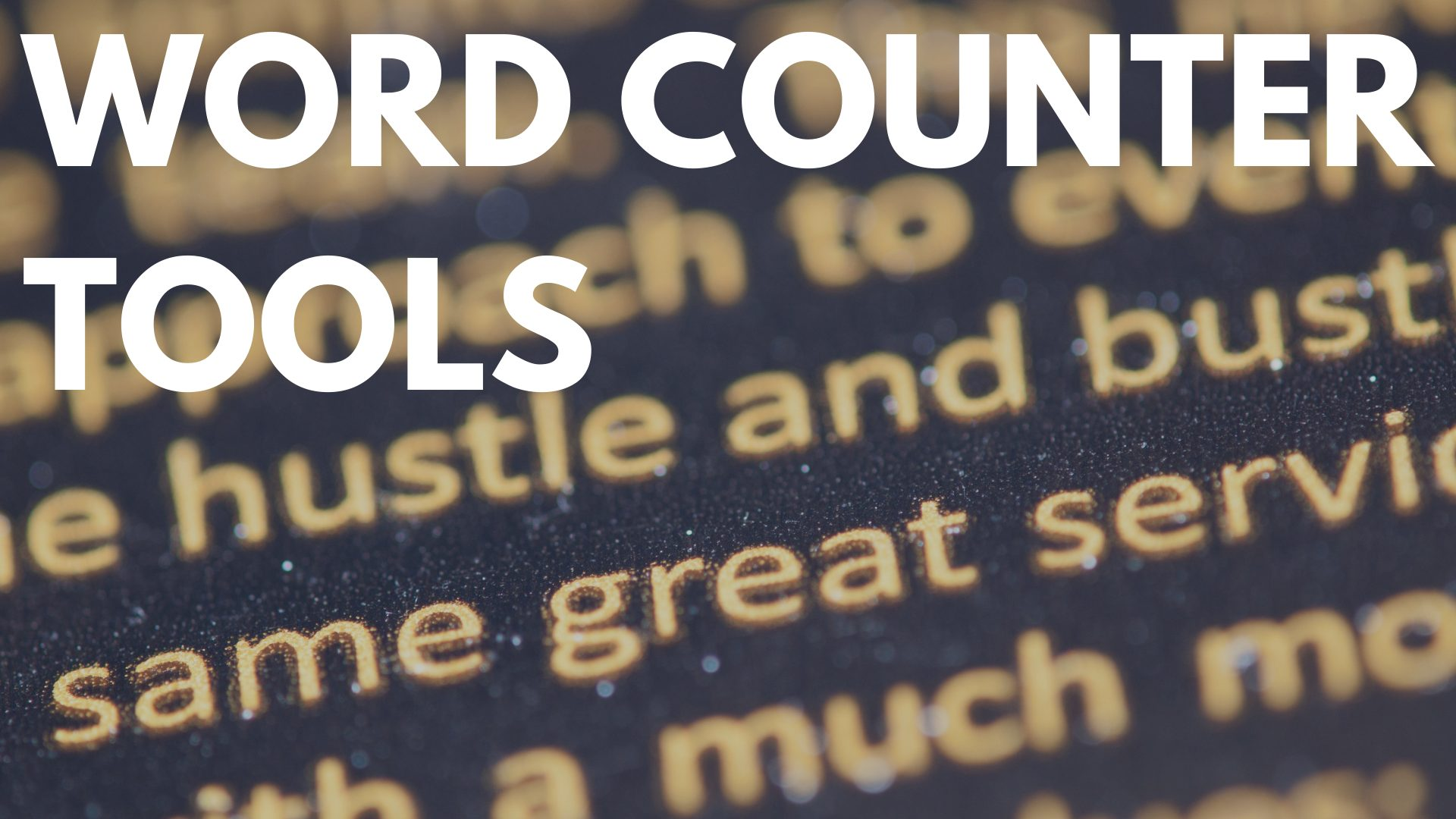 Free Online Tools to Count Your Words
