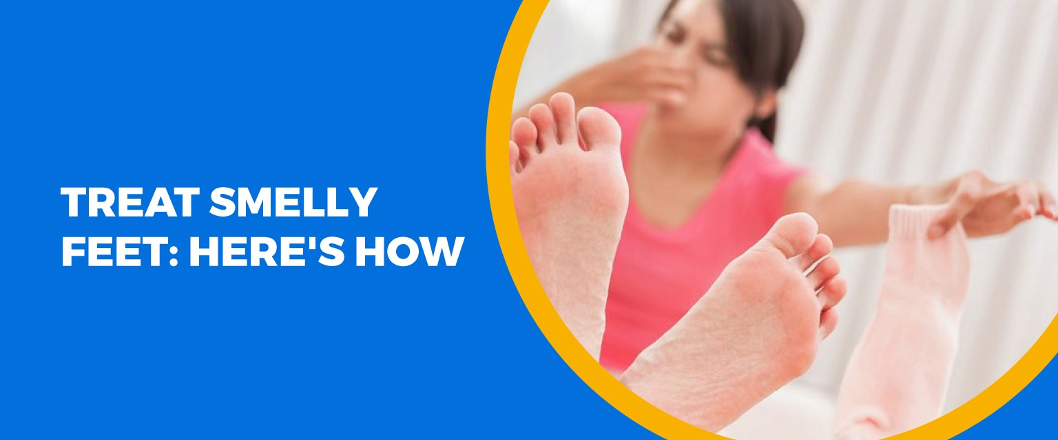 Treat Smelly Feet: Here's How